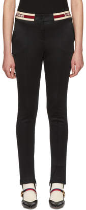 Gucci Black Web Band Leggings