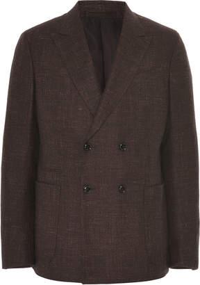 Ermenegildo Zegna Double-Breasted Wool Blazer