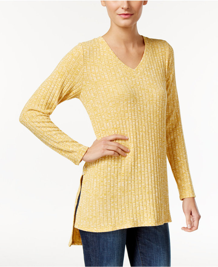 Style & Co. Ribbed High-Low Tunic, Only at Macy's