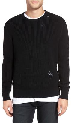 Zanerobe Shredded Waffle Knit Sweater $139 thestylecure.com