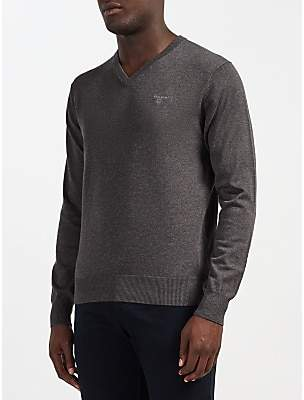 Gant Lightweight Cotton V-Neck Jumper