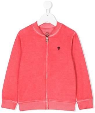 Madson Discount Kids strawberry embroidered zip sweatshirt
