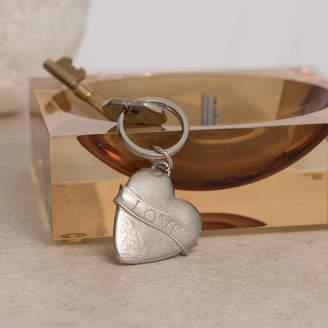 Lancaster & Gibbings Love Heart Key Ring