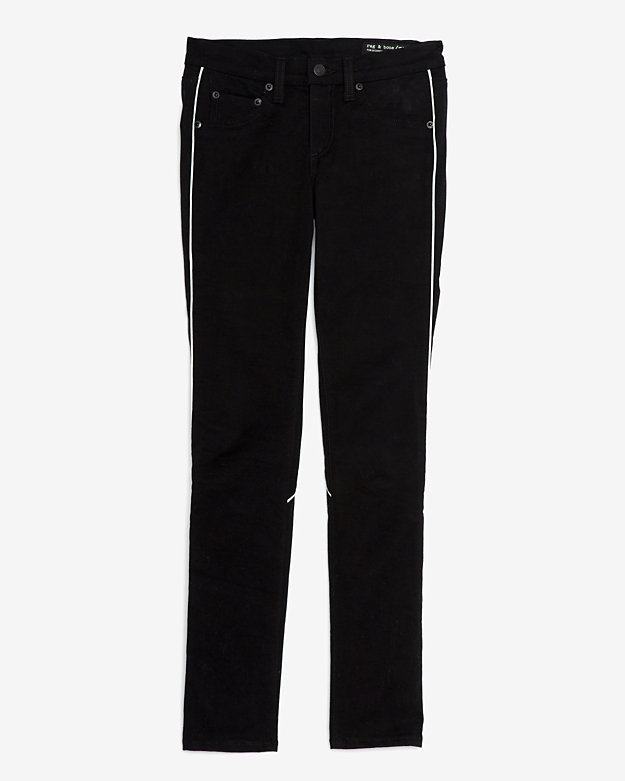 Rag and Bone Exclusive Contrast Piping Bomber Skinny