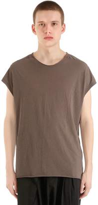 Isabel Benenato Raw Cut Cotton Jersey T-Shirt