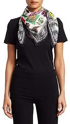 Versace Women's Printed Grid Silk Scarf