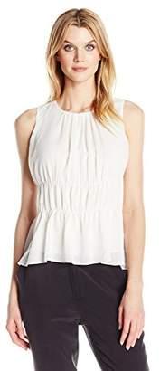 Ellen Tracy Women's Petite Size Shirred Shell