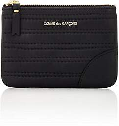 Comme des Garcons Men's Channel-Stitched Zip Pouch - Black