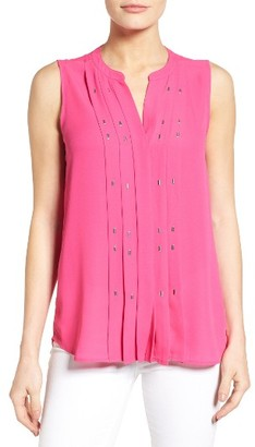 Women's Chaus Embellished Pleat Blouse $69 thestylecure.com