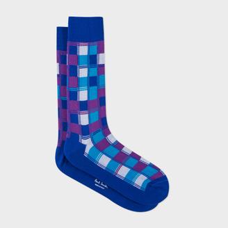 Men's Navy Check Socks $30 thestylecure.com