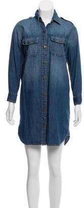 Current/Elliott Denim Collared Shirt Dress