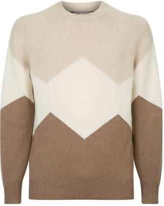 Brunello Cucinelli Colour Block Zig Zag Sweater