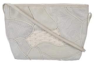Carlos Falchi Embossed Leather Patchwork Crossbody Bag