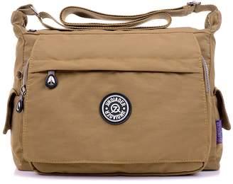 d3b8b01cea7e at Amazon Canada · TianHengYi Womens Multiple Zipper Pockets Nylon Fabric  Cross-body Shoulder Bag Light Sports Messenger Bag
