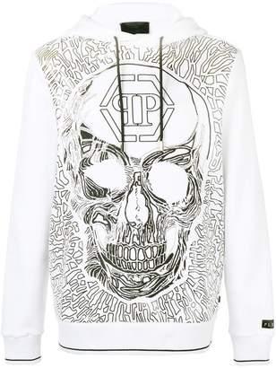 Philipp Plein skull embroidered hoody