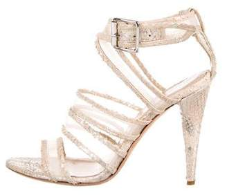 Loeffler Randall Paige Snakeskin Sandals
