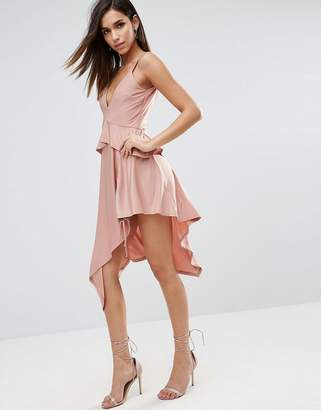 Asos DESIGN Slinky Ruched Thigh Midi Dress