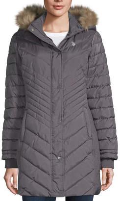 U.S. Polo Assn. Heavyweight Hooded Puffer Jacket