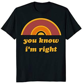 Freeze You Know I'm Right Minimal Sunshine Graphic T-Shirt