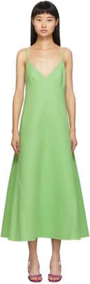 Marc Jacobs Green Spaghetti Strap Dress