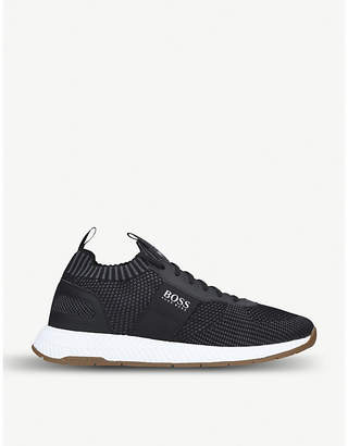 Titanium knitted trainers