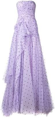Carolina Herrera strapless flared maxi dress