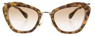 Miu Miu Tinted Cat-Eye Sunglasses