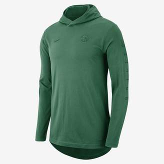 Nike Boston Celtics Men's Hooded Long-Sleeve NBA T-Shirt