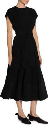 Proenza Schouler Short-Sleeve Combo Dress