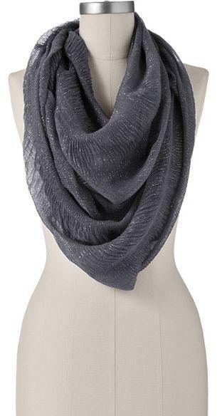 Apt. 9® lurex crinkle infinity scarf