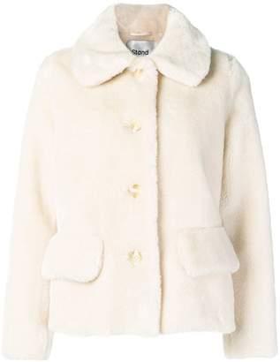 8020 Stand short teddy coat