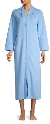 Miss Elaine Quilted Front Zip Robe