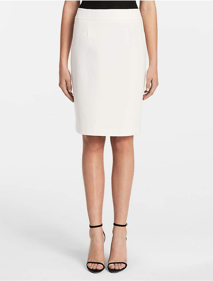 Calvin KleinStraight Pencil Cream Suit Skirt