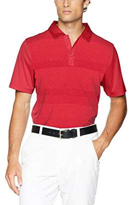Cutter & Buck Men's Moisture Wicking Drytec Crescent Stripe Panel Polo Shirt