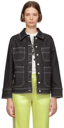 ALEXACHUNG Black Workwear Jacket