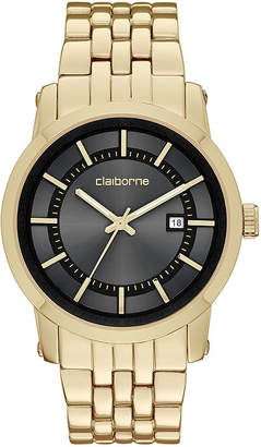 Claiborne Mens Gold-Tone Watch