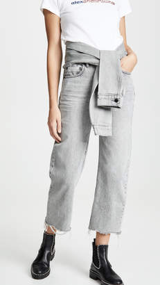 Alexander Wang Denim x Stack Crop Tie Jeans