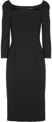 Dolce & Gabbana - Wool-blend Crepe Midi Dress - Black $2,445 thestylecure.com