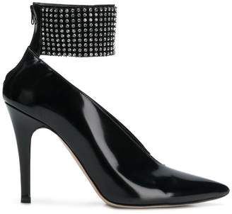 Christopher Kane crystal mesh pumps