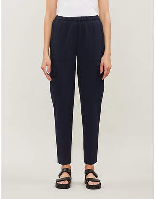 Theory Easy Cargo straight cropped stretch-wool trousers