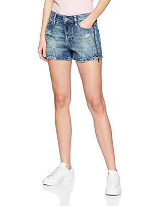GUESS Women's Holly Short Zip (Tomorrow Blue Tmrb), 10 (Size: )