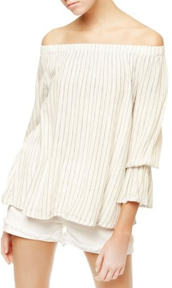 Petite Women's Sanctuary Bell Sleeve Stripe Top $79 thestylecure.com
