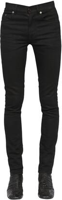 Saint Laurent 15cm Skinny Mid Rise Cotton Denim Jeans