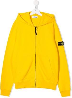 Stone Island Junior TEEN zipped hoodie