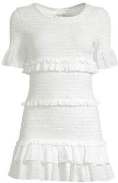 LoveShackFancy Aveline Ruffle Mini Dress