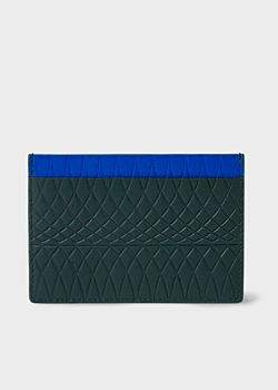 Paul Smith No.9 - Dark Green Leather Card Holder With Multi-Coloured Card Slots