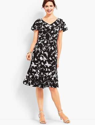 Talbots Flowing Fit & Flare Dress