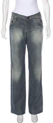 Just Cavalli Mid-Rise Wide-Leg Jeans