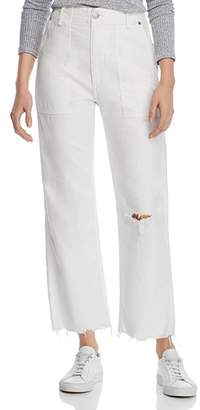 Rag & Bone Kaye High-Rise Wide-Leg Chino Pants