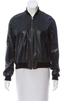 Veda 2017 Leather Bomber Jacket w/ Tags